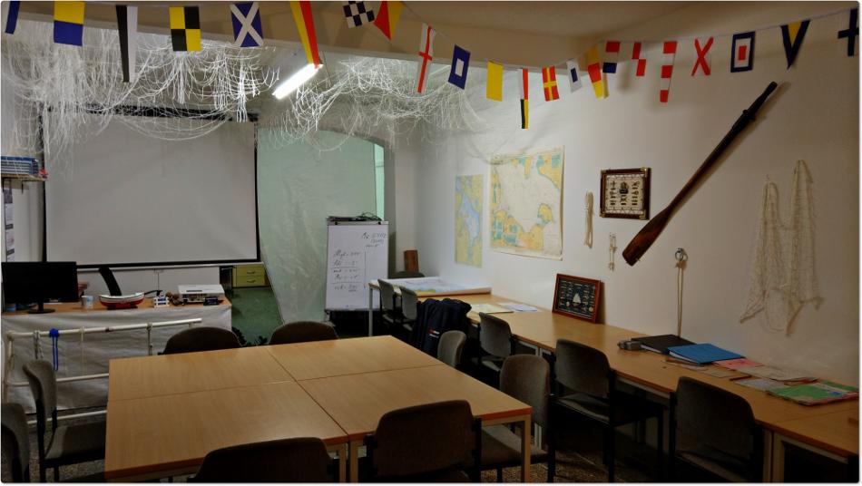 Schulungsraum Bootsfahrschule